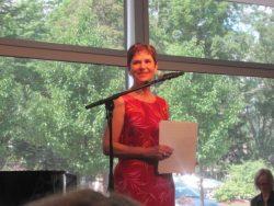 Barbara speaking at Stratford 003